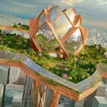 Архитектурный комплекс современного мегаполиса.