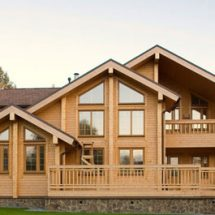 Строительство домов из бруса.