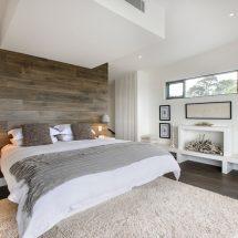 Акцентная стена в спальне — 30 идей