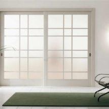 Стеклянная дверь: видимая изящность
