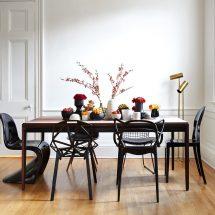 Как сочетать стулья разного дизайна и цвета в столовой